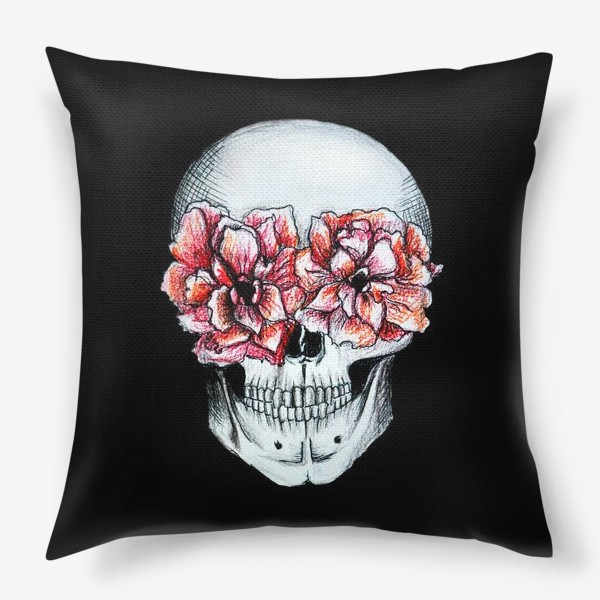 Подушка «Череп в цветах»