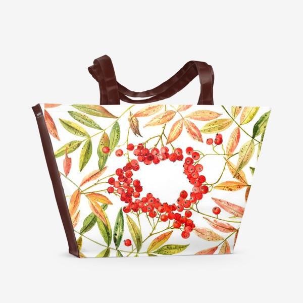 Пляжная сумка «Рябина»