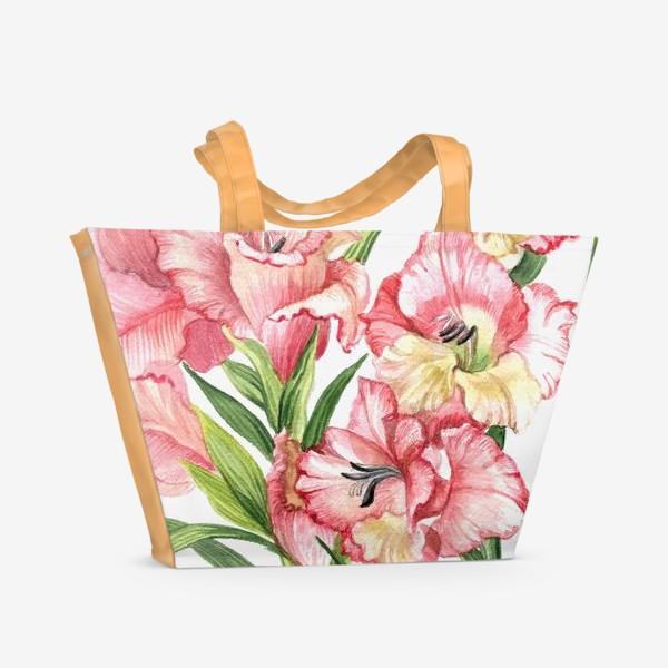 Пляжная сумка «Гладиолусы»