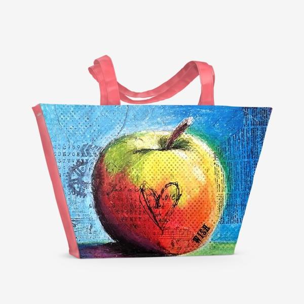 Пляжная сумка «Яблочное яблоко»
