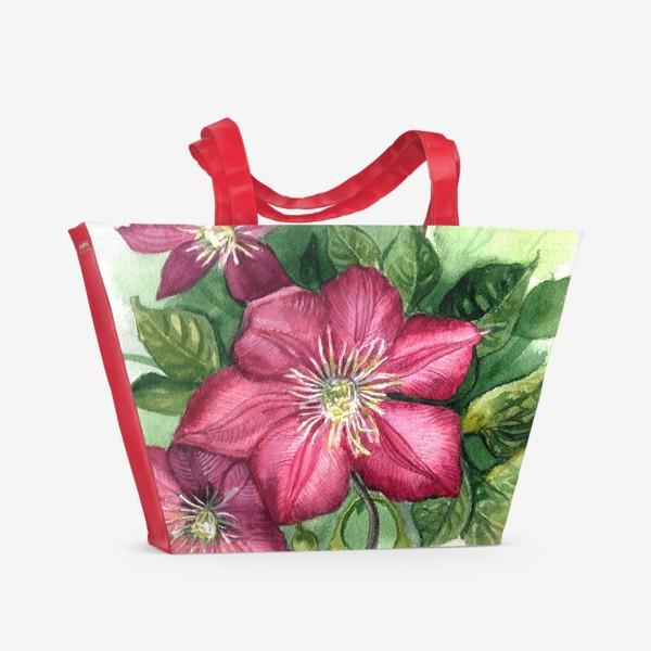 Пляжная сумка «Клематис »