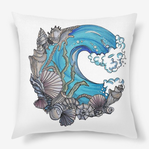 Подушка «море»