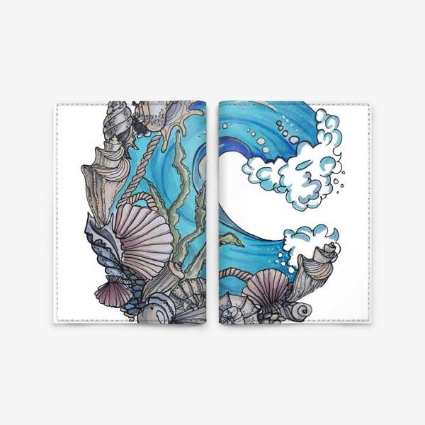Обложка для паспорта «море»