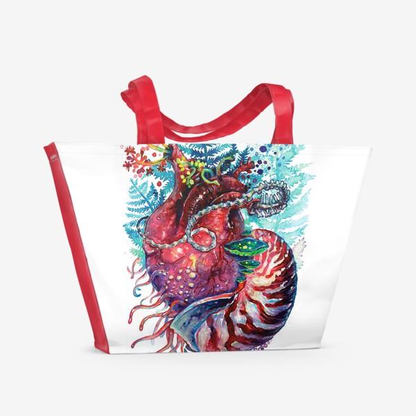 Пляжная сумка «Ancient Heart - Древнее Сердце»