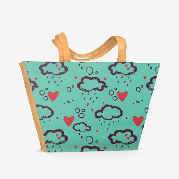 Пляжная сумка «Осень и любовь»