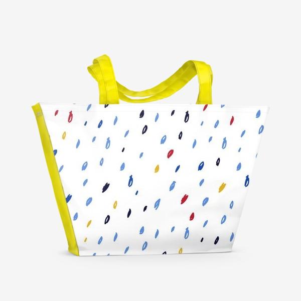 Пляжная сумка «Абстрактный паттерн со штрихами»