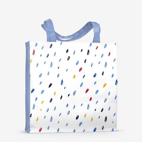 Сумка-шоппер «Абстрактный паттерн со штрихами»