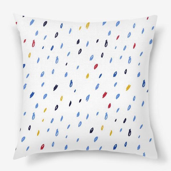 Подушка «Абстрактный паттерн со штрихами»