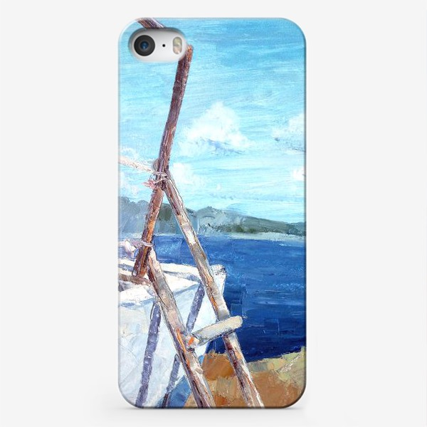 Чехол iPhone «Море. Горы. Крит»