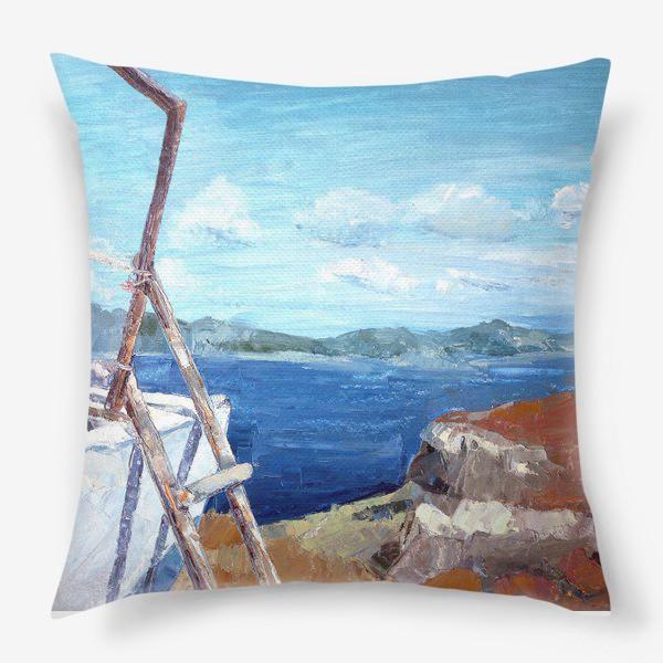 Подушка «Море. Горы. Крит»