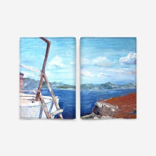 Обложка для паспорта «Море. Горы. Крит»