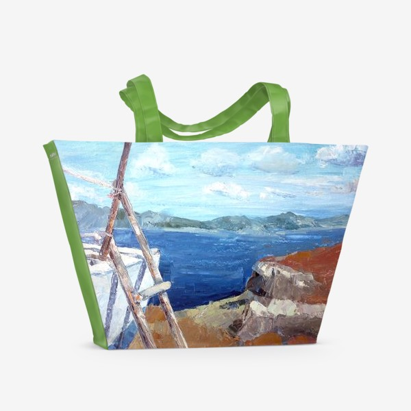 Пляжная сумка «Море. Горы. Крит»