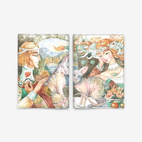 Обложка для паспорта «принцы и принцессы»