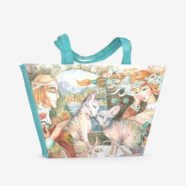 Пляжная сумка «принцы и принцессы»
