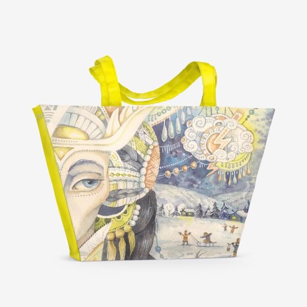 Пляжная сумка «Зимние сказки»