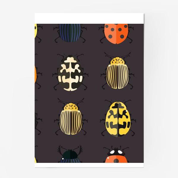 Постер «Цветные жуки»