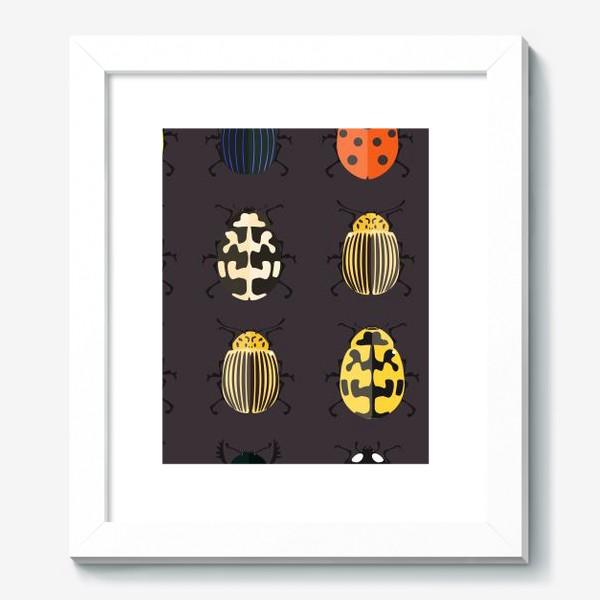 Картина «Цветные жуки»