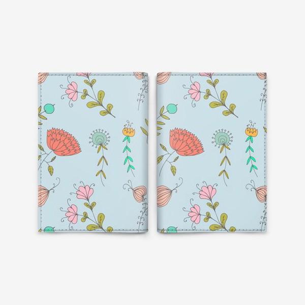 Обложка для паспорта «Пастельные цветы»