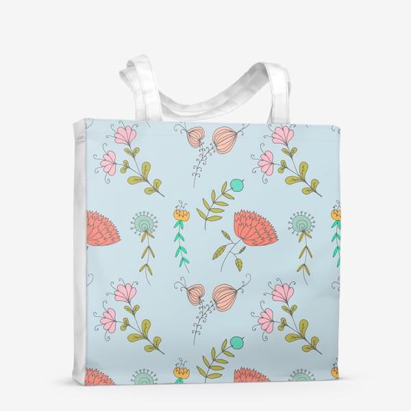 Сумка-шоппер «Пастельные цветы»