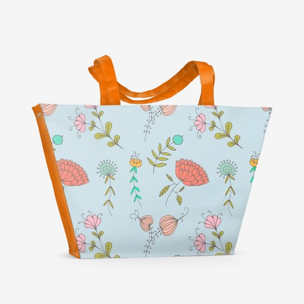 Пляжная сумка «Пастельные цветы»