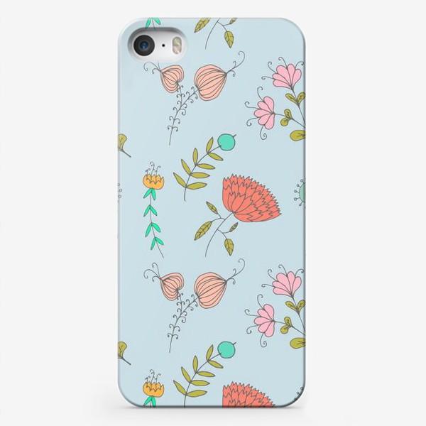 Чехол iPhone «Пастельные цветы»