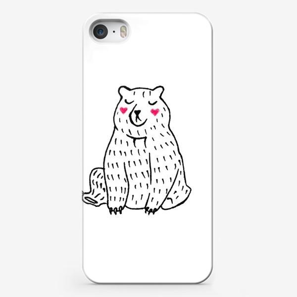 Чехол iPhone «Скромный мишка»