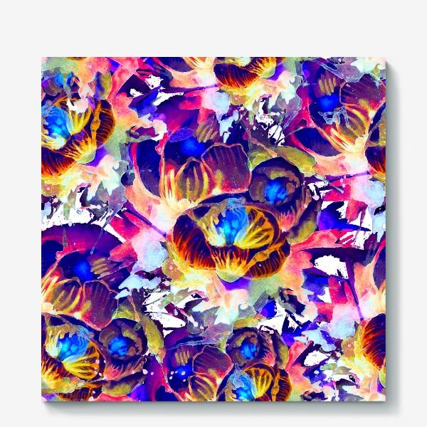 Холст «Абстрактная акварельная текстура»