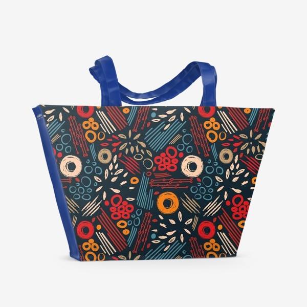 Пляжная сумка «Абстрактный паттерн»