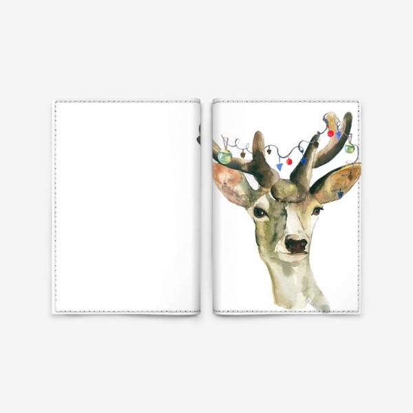 Обложка для паспорта «Лось новогодний »