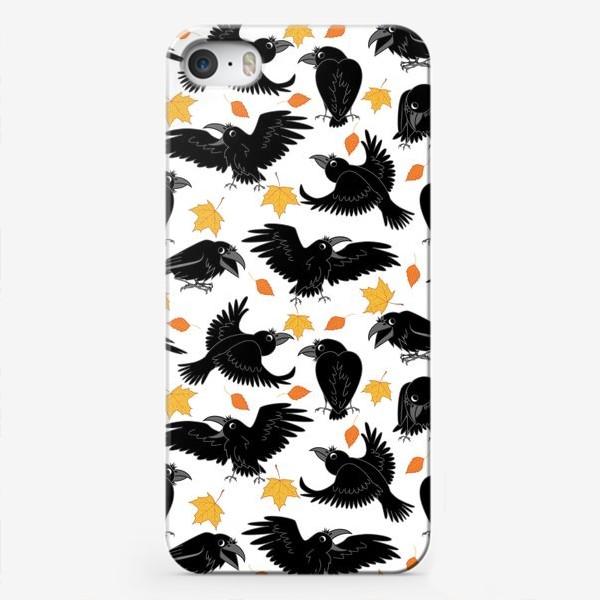 Чехол iPhone «вороны»