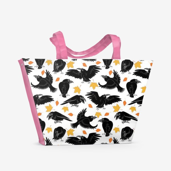 Пляжная сумка «вороны»