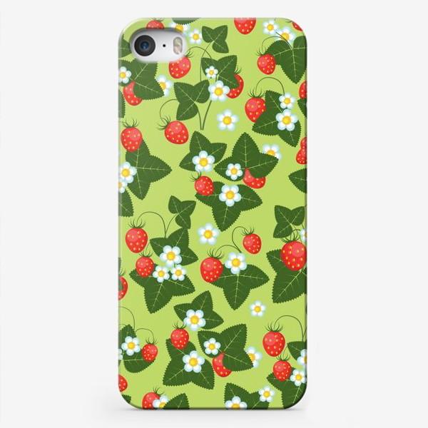 Чехол iPhone «землянички»