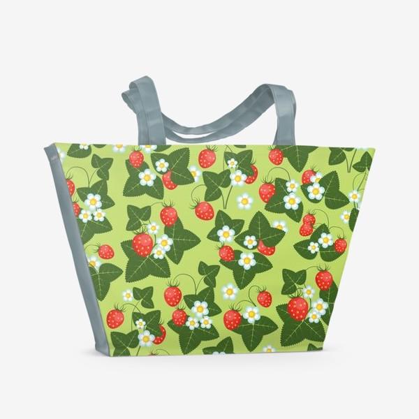 Пляжная сумка «землянички»