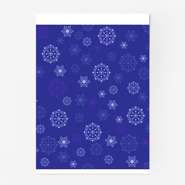 Постер «снежинки»
