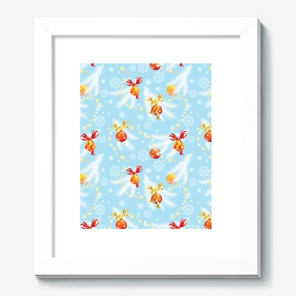 Картина «елочные шары»