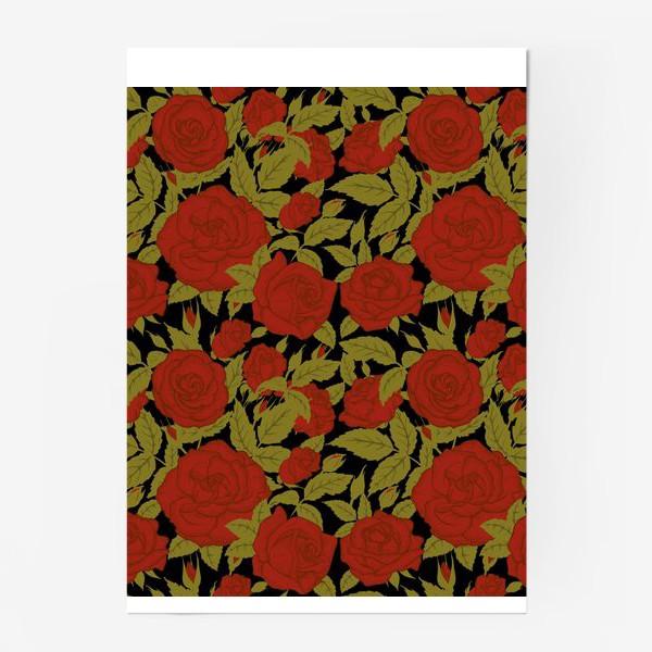 Постер «красные розы»