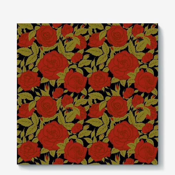 Холст «красные розы»