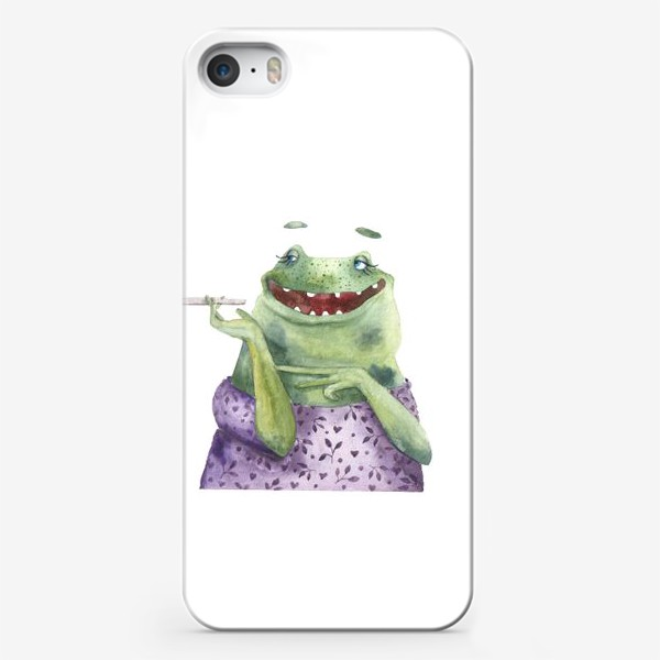 Чехол iPhone «Мадам Лягухина»