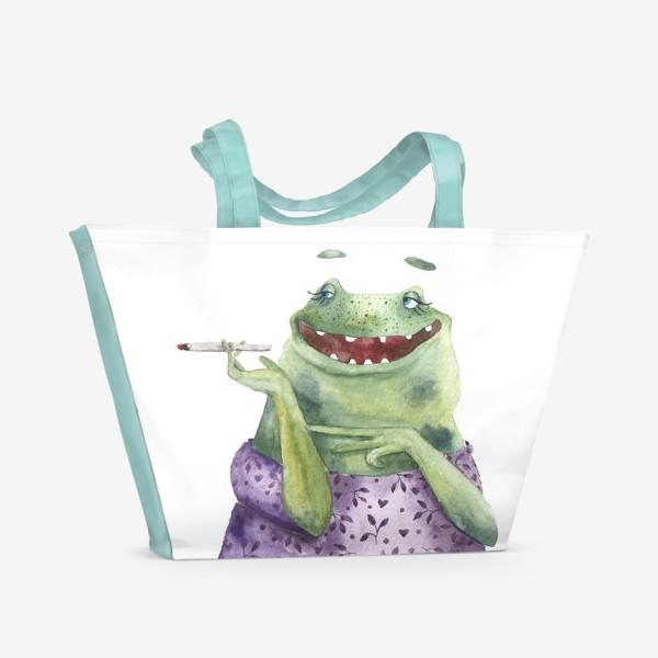Пляжная сумка «Мадам Лягухина»