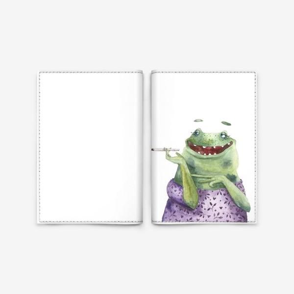 Обложка для паспорта «Мадам Лягухина»