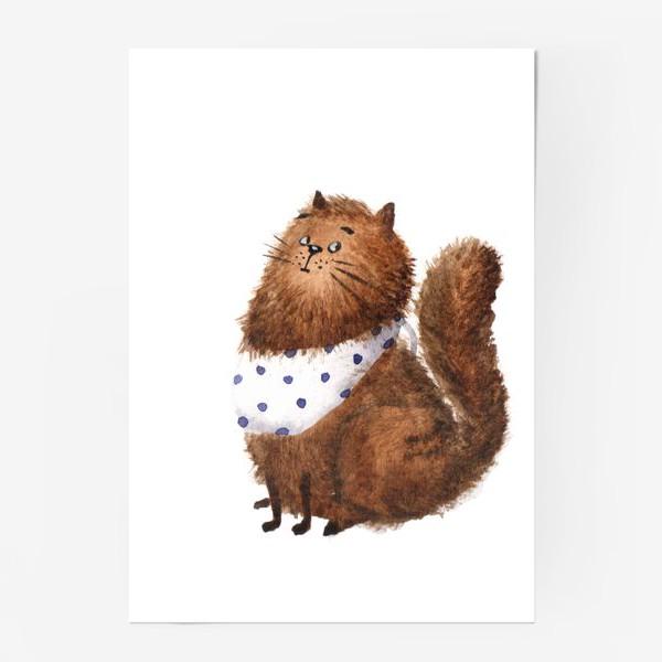 Постер «Удивленный кот»