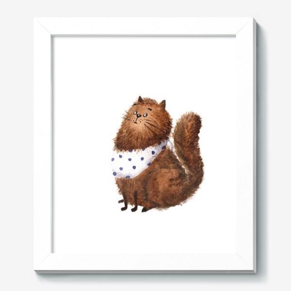 Картина «Удивленный кот»