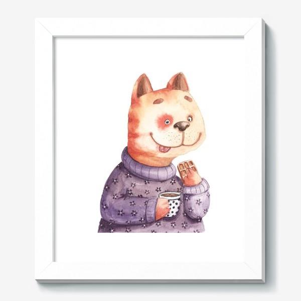 Картина «Кот с вафелькой»