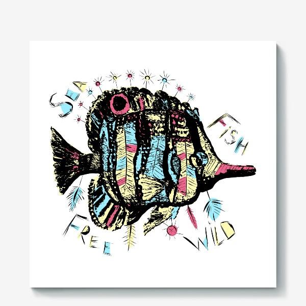Холст «Рыба бохо»