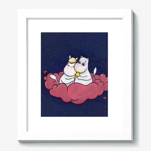 Картина «Муми-тролли на облаке»