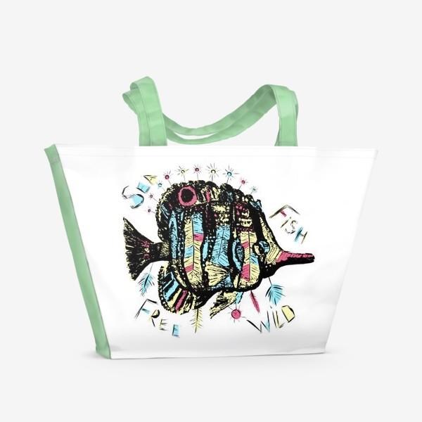 Пляжная сумка «Рыба бохо»