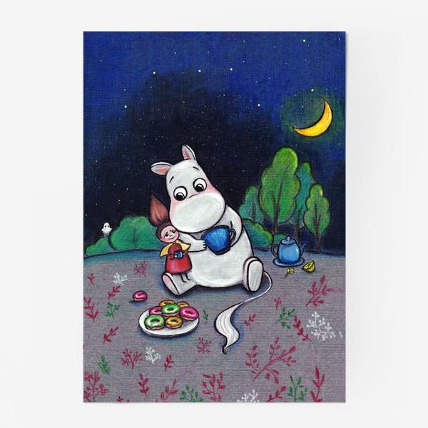 Постер «Ночное чаепитие с Муми-троллем»