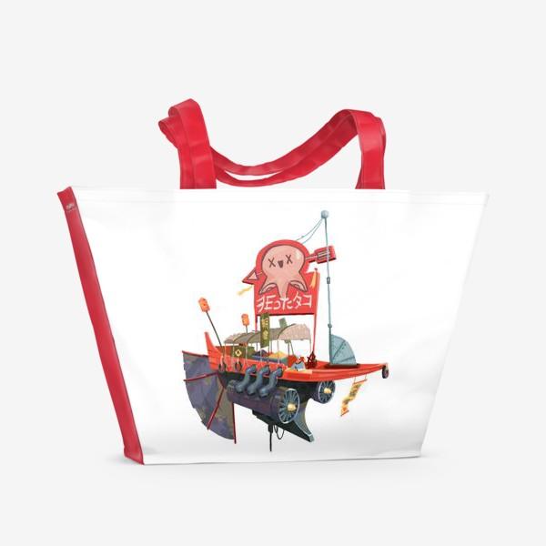 Пляжная сумка «Лавка специй (белый фон)»