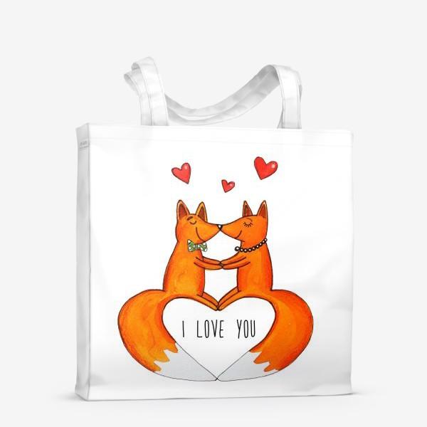 Сумка-шоппер «Влюбленные лисы»