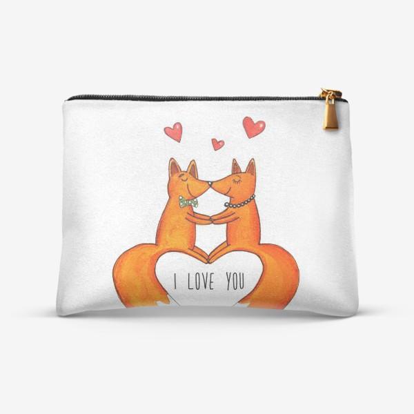 Косметичка «Влюбленные лисы»